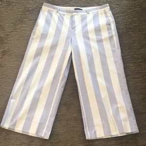 Light Blue & White Wide Stripe Pants